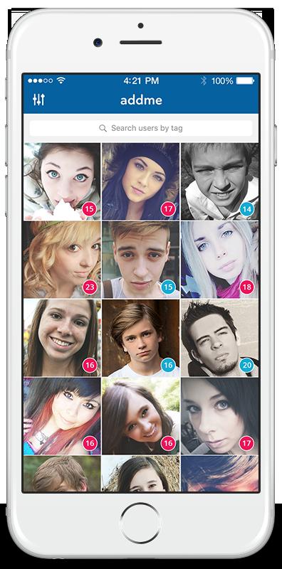 AddMe - Find Snapchat usernames, Kik usernames, and Instagram followers